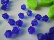 bicone crystal glass bead