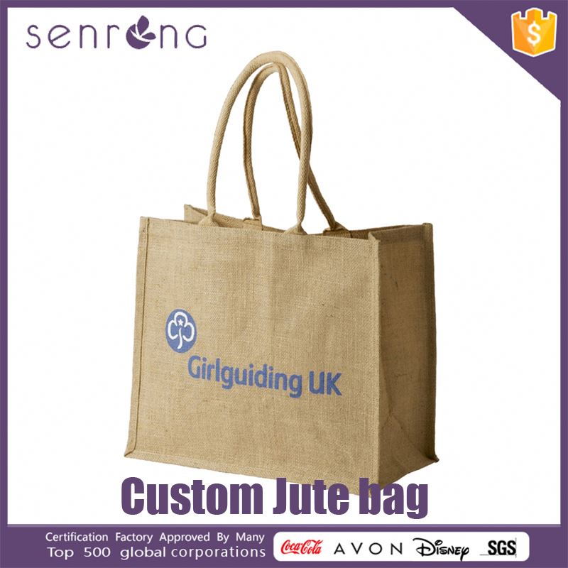 Jute Wine Bag Bottle Bag Jute Reusable Folding Shopping Bag