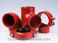 Grooved pipe fitting for fire fighting pipe