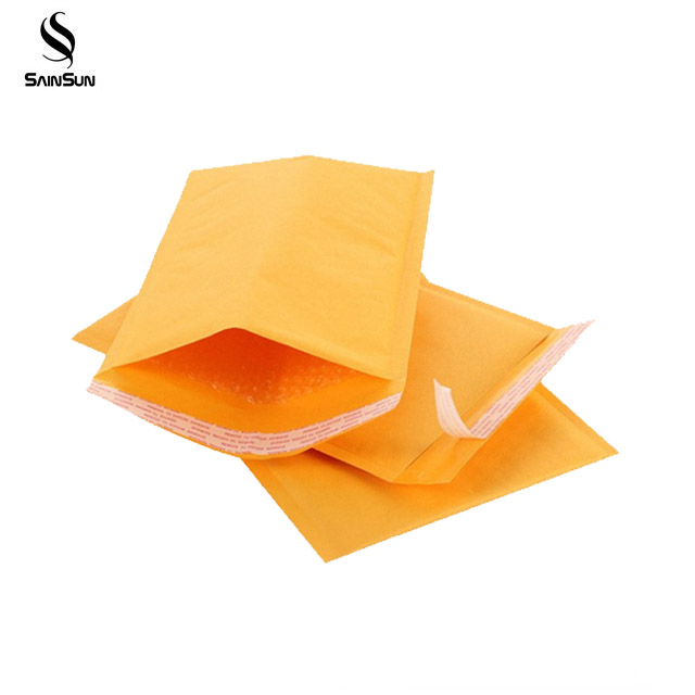 Recycled Packaging Pe Color Bubble Mailers Eco Friendly Wrap Mail Bags Kraft With Zipper