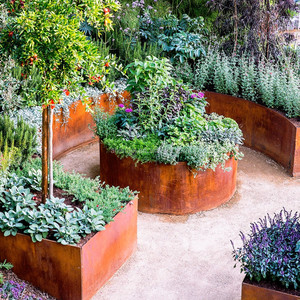Cheap Corten Steel Planter, Environmental Flower Planter Pots, Wholesale Vertical Garden Planters Products