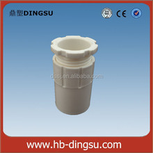 White PVC Electrical Conduit Fittings 16mm PVC Male Bush