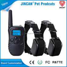 330 Yards Electric Dog Training Collar -Stop Barking Device,0- 100 levels shock + vibration/ beep/LED lighting functions