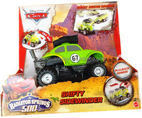 Pixar Cars RS500 1/2 Wild Racer Shifty Sidewinder Pull back Vehicle