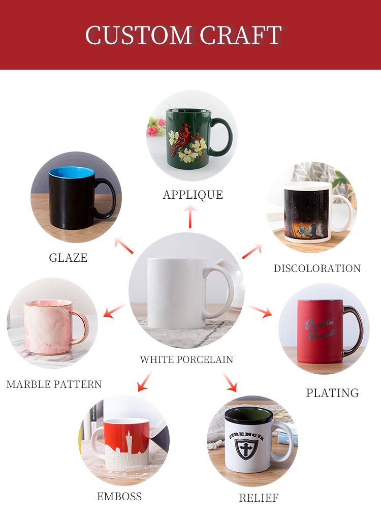 New products wholesale promotional 11oz custom shape modern creative single wall color marble ceramic mug with lid for gift