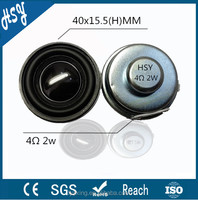 Professional cheap 40mm 2w 4 ohm speaker