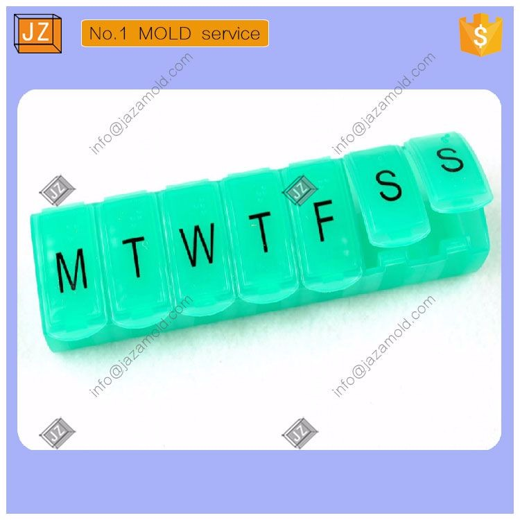 custome plastic pill container box injection mold with logo