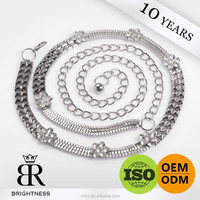Wholesale Metal Silver Chain Belt Of
