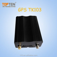 Vehicle GPS Tracker TK103 with Remotes and Siren, Engine-cut, SOS, Track by SMS/GPRS, Door Open Alarm, Engine On Alarm
