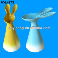 Bunny pottery vinegar and sauce bottles set