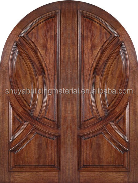 Delicate workmanship front double entrance main door design