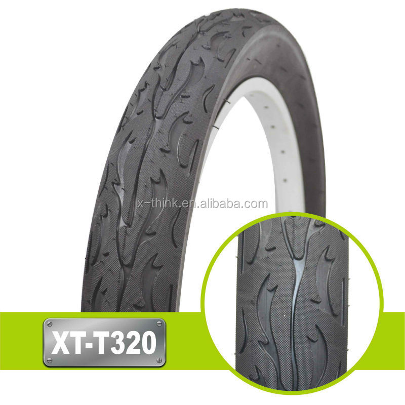 Top quality double color bicycle tyre solid tires 14 inch
