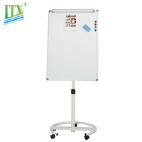 Mobile flip chart dry erase magnetic whiteboards mobile flip chart board