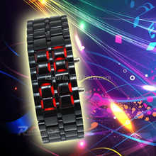 2015 wholesale couple lover unisex led watch stainless steel wrist watch