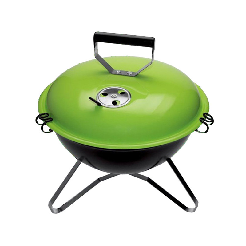 Outdoor portable mini tabletop charcoal grill