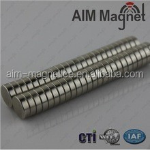 Free samples professional neodymium magnet manufacture D12x2.5mm N35