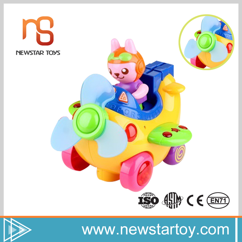 Latest trends B/O funny cute battery operated toy plane with new style