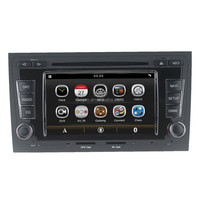 Capacitive Screen Car DVD Navigation GPS Steering Wheel RDS Radio 3G Bluetooth USB for Audi A4