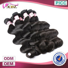 XBL Indian Remy Human Hair Unproessed Body WaveJet Black Indian Hair