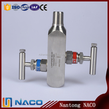 1/2NPT 304 Stainless Steel 2 Valve Manifolds for Water and Gas