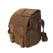 YD-3229 fashion outdoor travel water-proof leather canvas camera bag