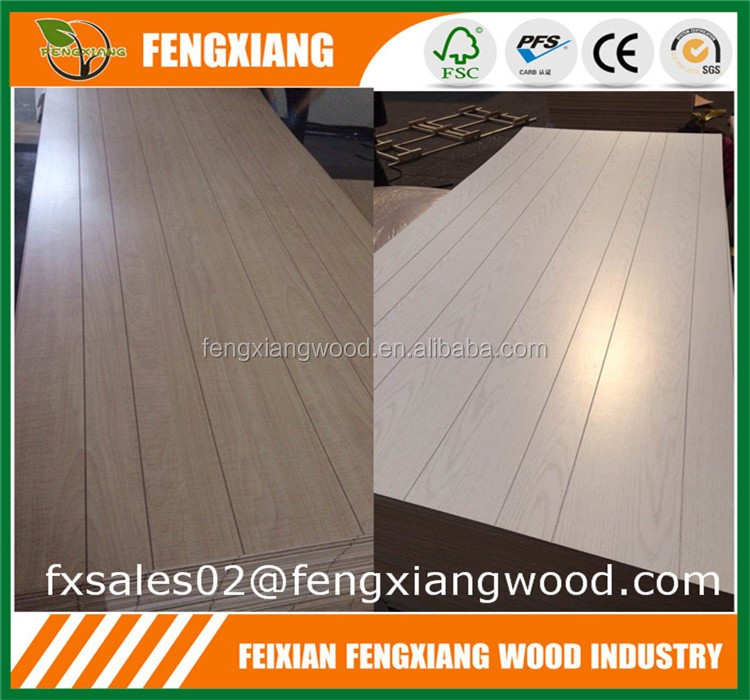 Grooved Paper Overlay Plywood