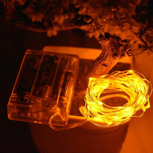 Christmas Decoration IP65 2m 20leds LED mini Copper Wire Flexible Fairy String Light with Battery case