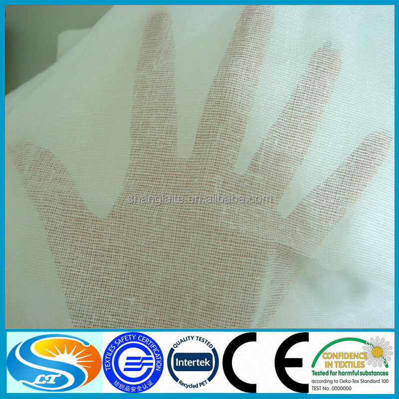 high quality woven cotton mosquito net fabric