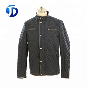 Custom High Quality Navy Outdoor Winter Mens Diamond Quilted Jacket