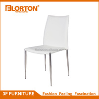 Sturdy steel frame chrome legs dining chair