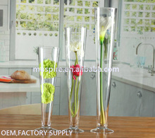 Round Tall Trumpet Wholesale Table Glass Vases For Wedding Centerpieces Decoration