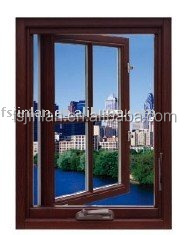 Aluminium-clad solid wood window