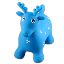 PVC plastic Inflatable toys animal ride jumping animal for kids