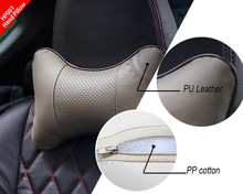 Deluxe PU adult car head rest pillow