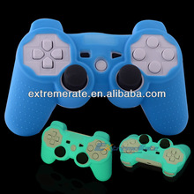 blue silicone case for Playstation 3 PS3 wireless controller light in the dark