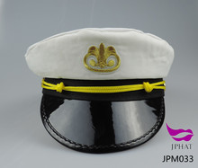 White navy captain hat sailor hat naval cap police officer hat