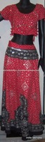 red Black cotton designer Ladies wedding wear,chaniya choli