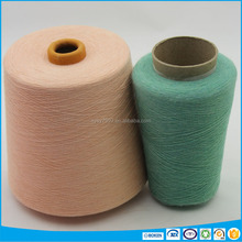 wicking cotton polyester rayon blended melange yarn