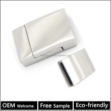 BX067 Wholesale jewelry finding 316L stainless steel Strong magnetic clasp for wide flat leather bracelet