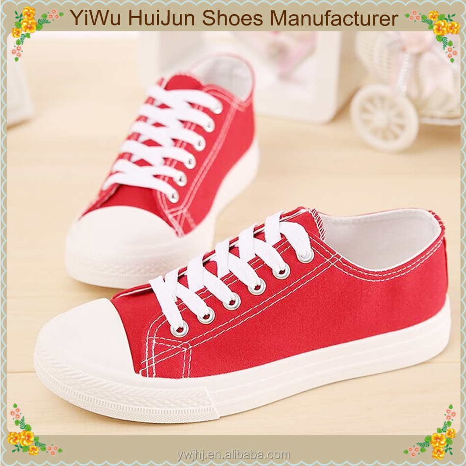 Ladies women shoes thailand wholesale white canvas women shoes