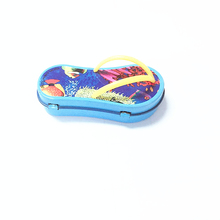Colorful cute small foot-shaped candy tins gift boxes