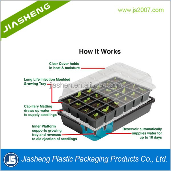 Luxury Cell Seed Germination Trays with Plastic clear lid