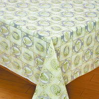 non slip printed floral plastic vinyl lace table cloth