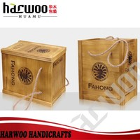 China wooden wine case with wood card board inside
