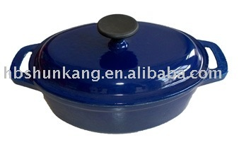 cast iron enameled casserole