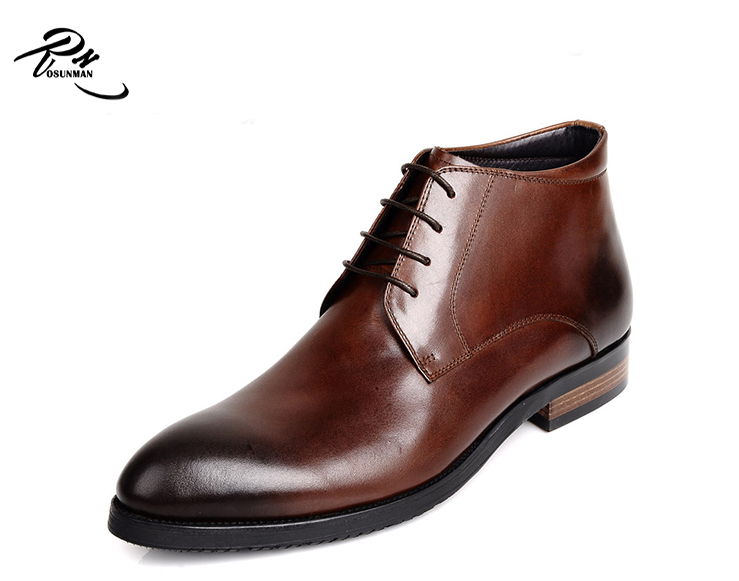 Premium cow leather high class winter men leather <strong>boots</strong>, fashion leather ankle man <strong>boot</strong> burnished toe
