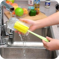 High quality long plastic handle cleaning cup sponge foam brushes