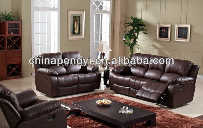 Home furniture design reclining leather sofa sets