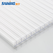 Multiwall triple wall anti-fog polycarbonate hollow sheet special for car shelter