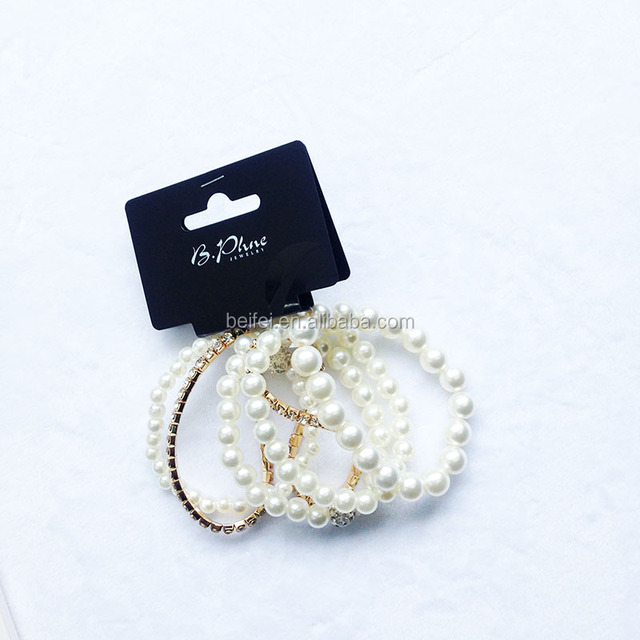 6 pieces bracelet set bead pearl bracelet bangle